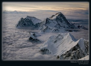 Makalu from 3rd step on Everest, by Harry Kikstra, on ExposedPlanet.com